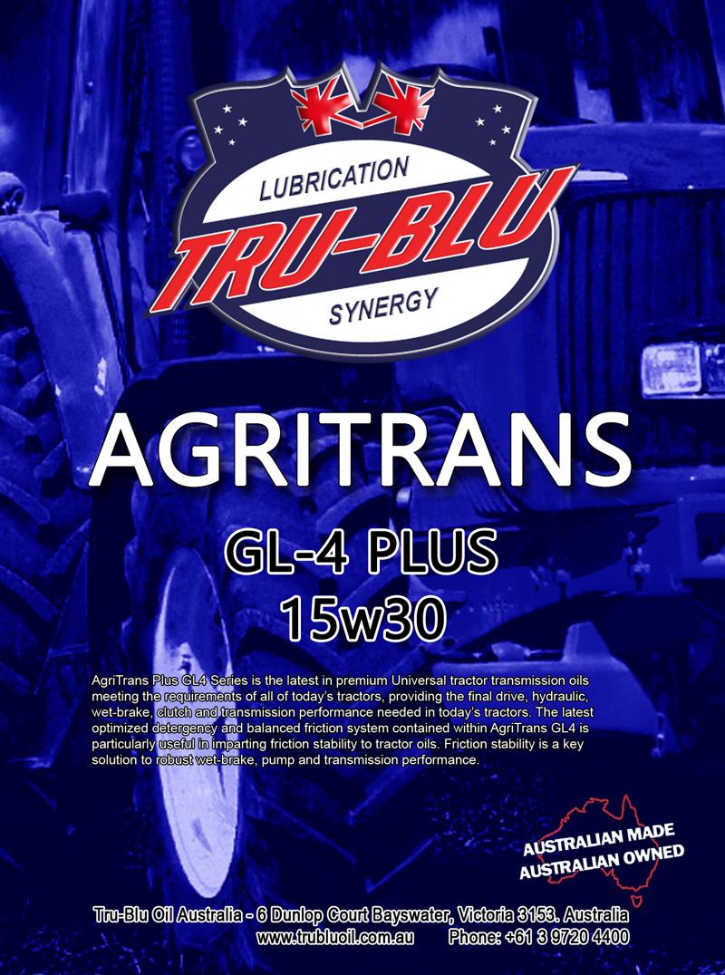 Agritrans Plus GL-4 UTTO 15w40 - Tru Blu Oil
