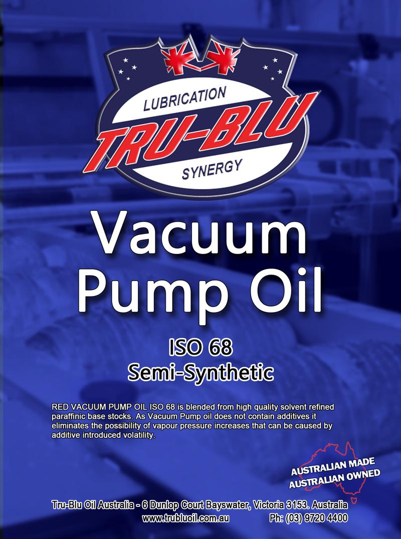 Red Vacuum Pump Oil ISO 68 - Tru Blu Oil